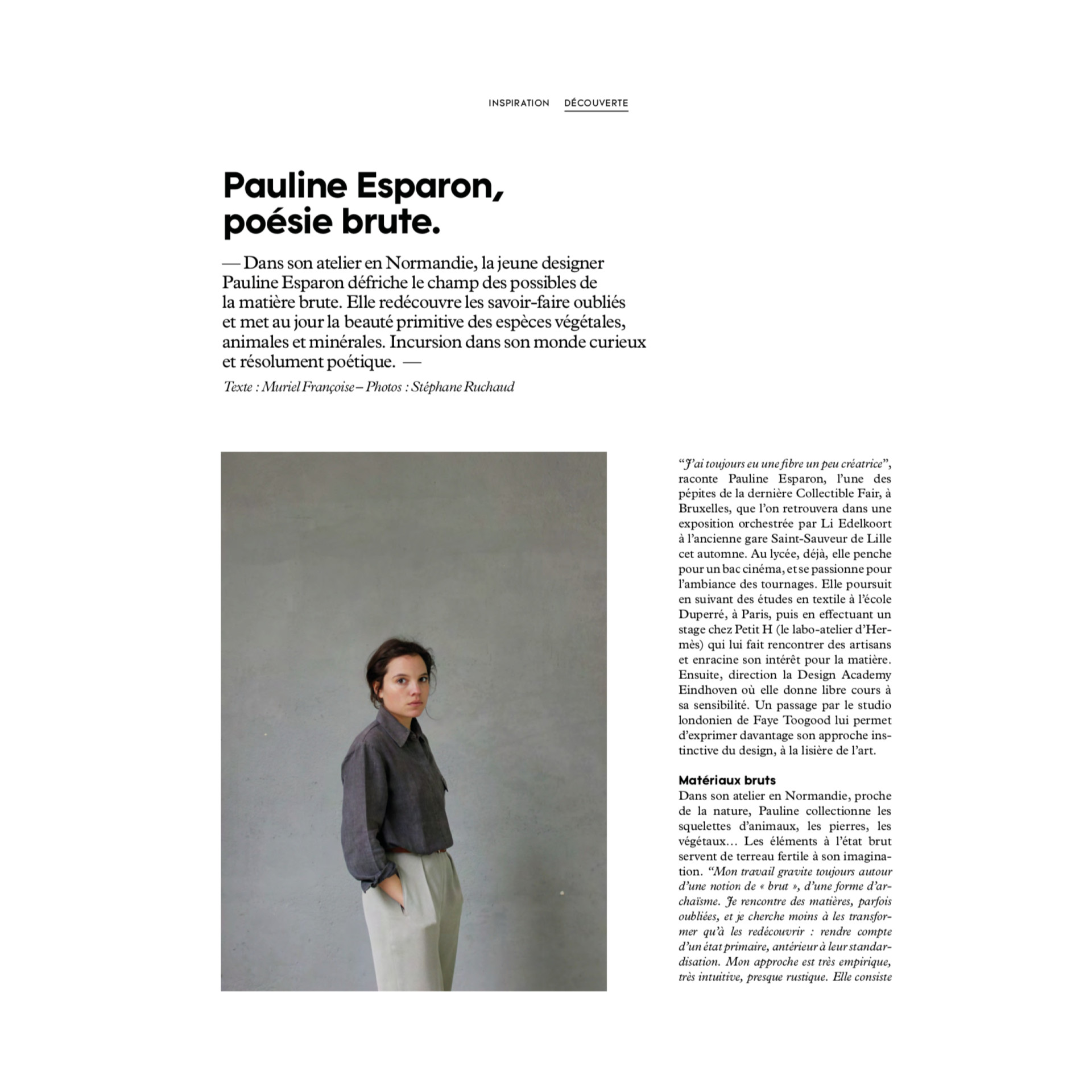 Pauline Esparon PRESS